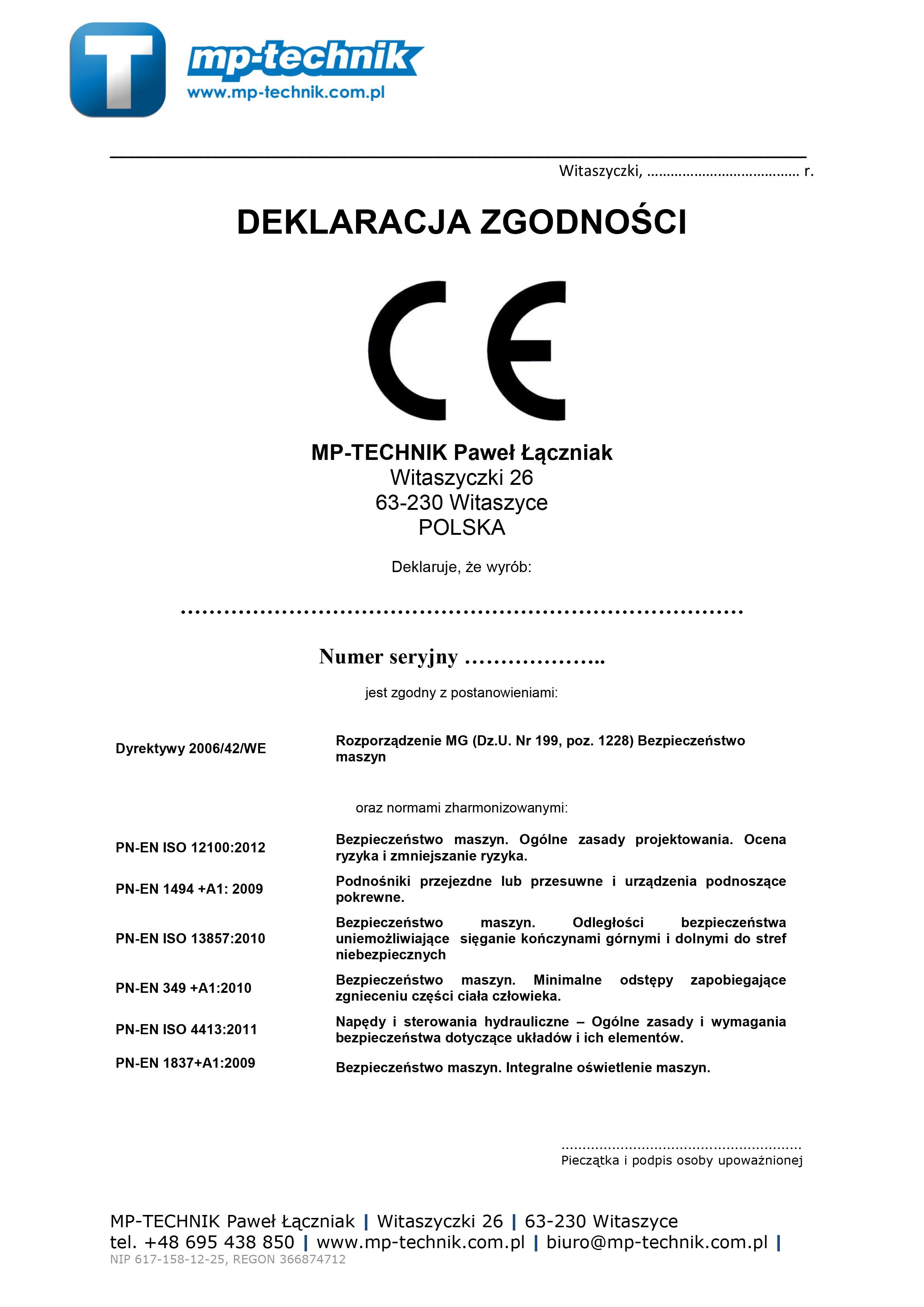 Deklaracja CE
