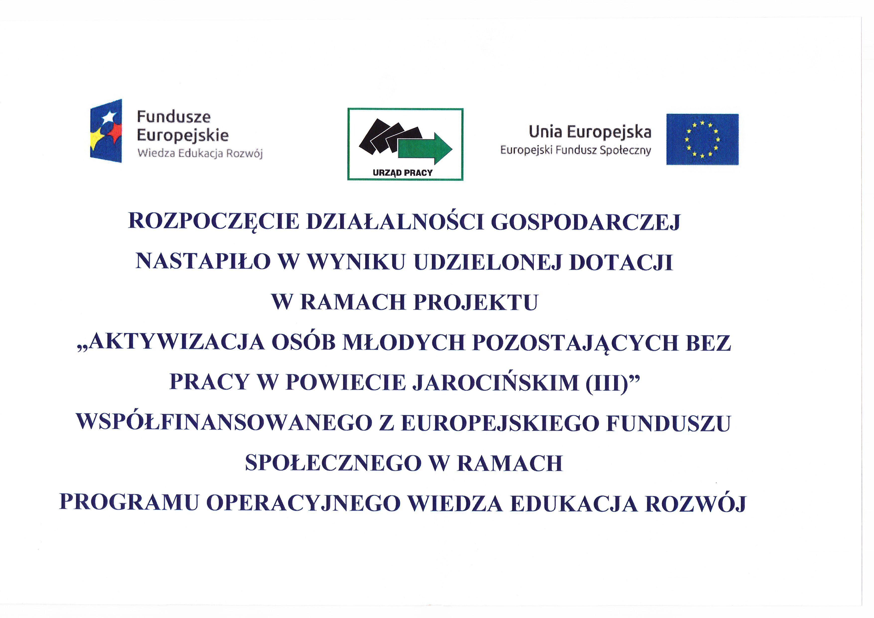 Dofinansowanie z UE
